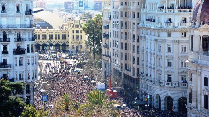 El turismo en València creció un 41% durante la semana de Fallas