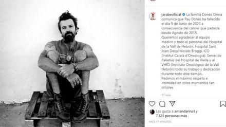 El cantante Pau Donés muere a los 53 años de edad