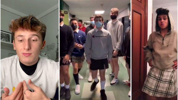 Chicos de toda España llevan falda a clase para luchar contra los estereotipos y el acoso escolar