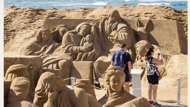 El Belén de arena de las Canteras entre las mejores imágenes navideñas del mundo