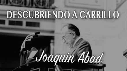 """Joaquín Abad lanza su primer libro, """"Descubriendo a Carrillo"""""""