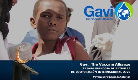 La alianza para la vacunación Gavi, Premio Princesa de Asturias de Cooperación Internacional 2020